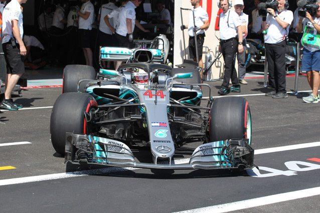 La Mercedes di Lewis Hamilton – LaPresse