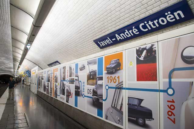 Il nuovo allestimento alla stazione di Javel – André Citroën / Citroen