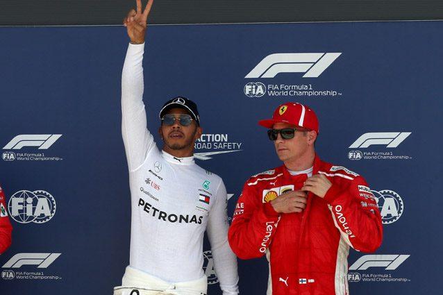 Lewis Hamilton e Kimi Raikkonen – LaPresse