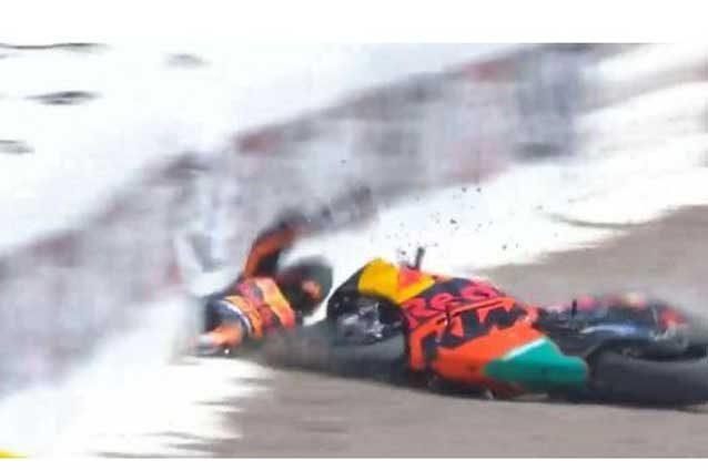 L'incidente di Mika Kallio al Sachsenring / MotoGP.com