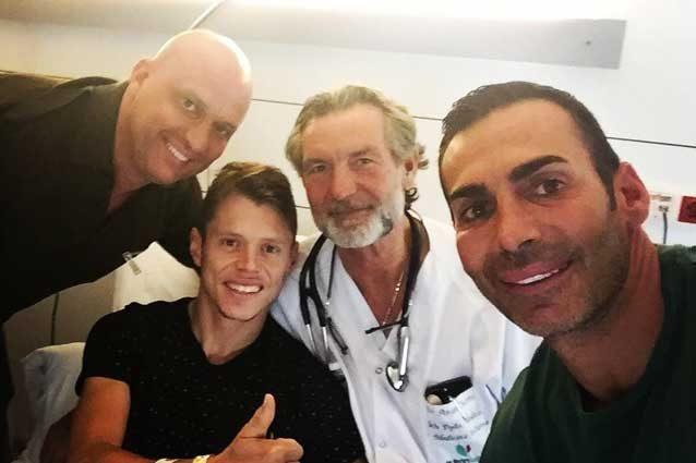 Tito Rabat in ospedale a Barcellona / Instagram