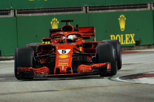 Sebastian Vettel sulla pista di Singapore – Getty images
