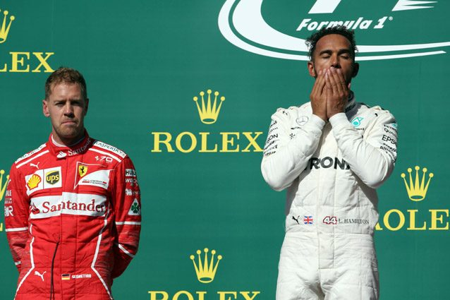Libere F1 ad Austin bagnate, comanda la Mercedes. Ferrari staccate
