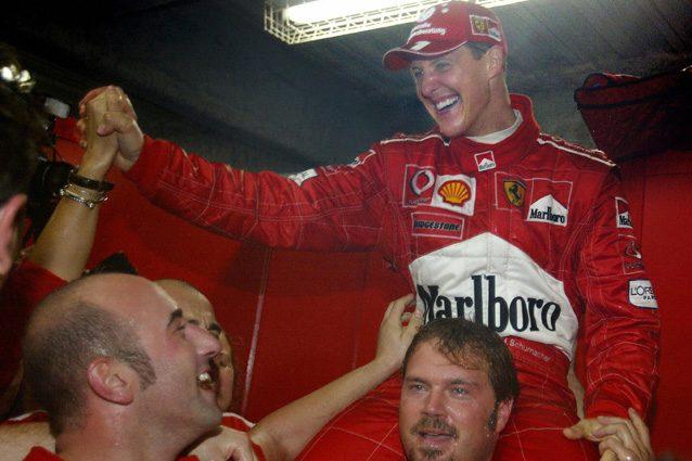 Schumacher diventa campione del mondo per la sesta volta – Getty images