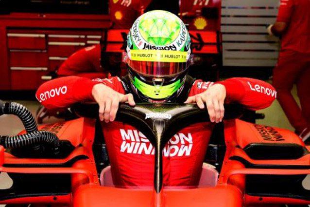 Mick Schumacher e il primo test Ferrari
