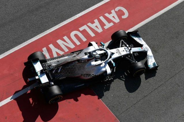 Test Barcellona, Bottas al top con la Mercedes ma niente sim