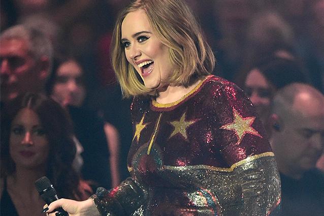 Adele ai Brit Awards 2016 (LaPresse)