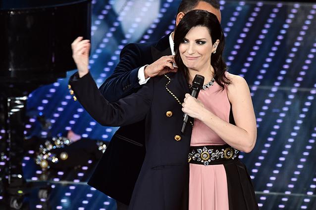 Laura Pausini superospite del Festival di Sanremo 2016 (LaPresse)
