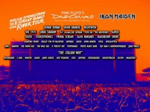 Il calendario completo del Rock in Roma 2016: Springsteen, Gilmour e Iron Maiden headliner