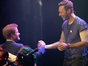 Il Principe Harry e Chris Martin dei Coldplay (Getty Images)