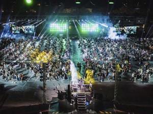 Rockin'1000 live allo Stadio Manuzzi di Cesena (Foto via Facebook)