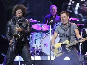 Bruce Springsteen durante il concerto di Madrid (Getty Images)