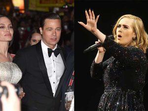 """Anche Adele si dispera per il divorzio tra Brad Pitt e Angelina Jolie: """"La fine di un'era"""""""