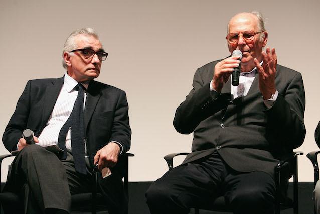 Martin Scorsese (sx) e Vittorio De Seta al Tribeca Film Festival nel 2005 (Getty Images)