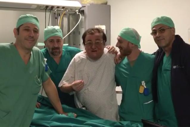 """È grave Leone di Lernia, video prima dell'operazione: """"Sò immortale"""". Mazzoli: """"Tieni duro, vecchio"""""""
