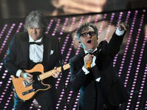 Gli Stadio, vincitori del Festival di Sanremo 2016.
