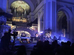 """Vinicio Capossela durante il concerto """"In–Sanità"""""""