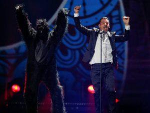 Francesco Gabbani all'Eurovision 2017 (LaPresse)