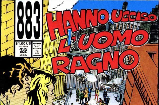 """La copertina del disco """"Hanno ucciso l'Uomo Ragno"""" (Credits: Warner Chappell Music Italia)."""