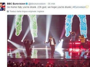 """Eurovision Song Contest 2017, Regno Unito contro Gabbani: """"Sei ubriaco"""""""