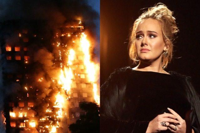 Incendio a Londra, Adele commossa fa visita ai sopravvissuti della tragedia della Grenfell Tower