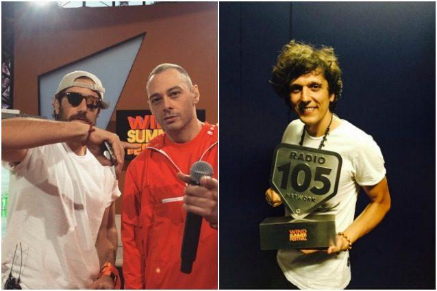 Fabri Fibra, Tommaso Paradiso e Ermal Meta (Credits: Instagram e Facebook).