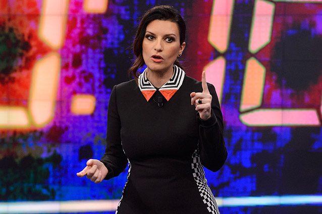 """Laura Pausini ospite al programma spagnolo """"El Hormiguero"""" nel 2016."""