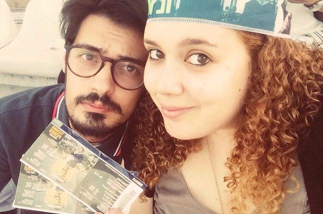 Paolo e Federica prima del concerto di Tiziano Ferro