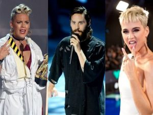 Pink, Jared Leto e Katy Perry