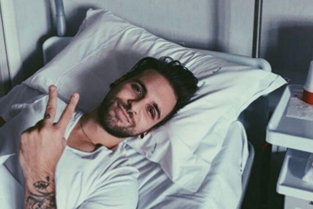 Alessio Bernabei in ospedale per una tonsillite: