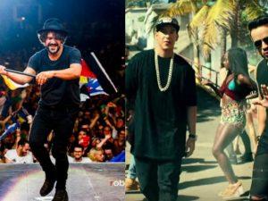 Mannarino (foto di Roberto Panucci) e Luis Fonsi e Daddy Yankee (screen dal video di Despacito)