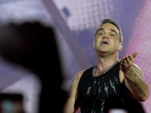 Robbie Williams in concerto (Getty Images)