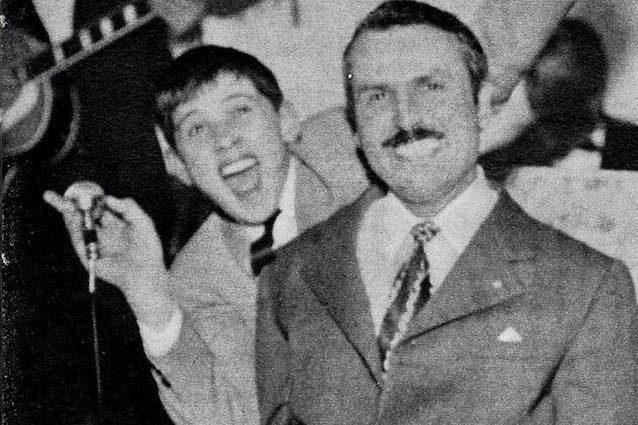 Gianni Morandi e l'amico Lino Lanzoni