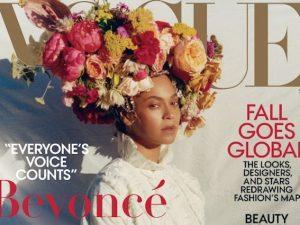 Beyoncé sulla copertina di Vogue (particolare)