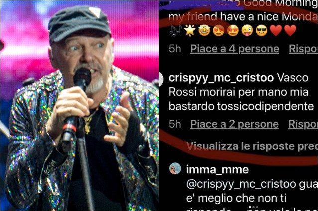 """Minacce di morte a Vasco Rossi, lui risponde: """"Ti aspetto am"""