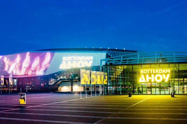 L'arena che doveva ospitare l'Eurovision Song Contest accogl