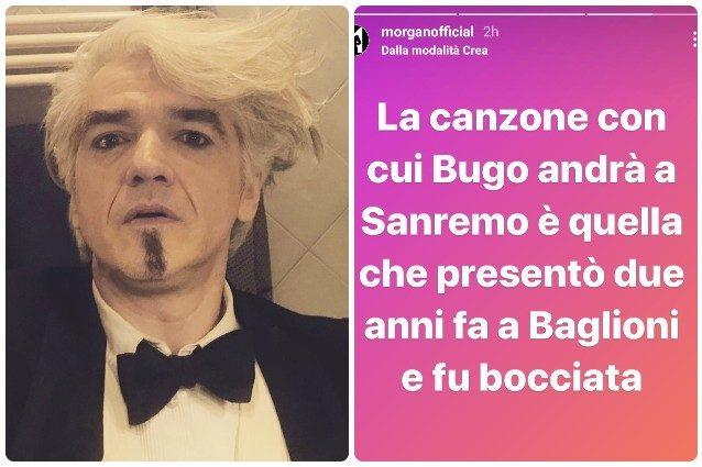 """Morgan: """"La canzone che Bugo porterà a Sanremo fu bocciata da Baglioni"""""""