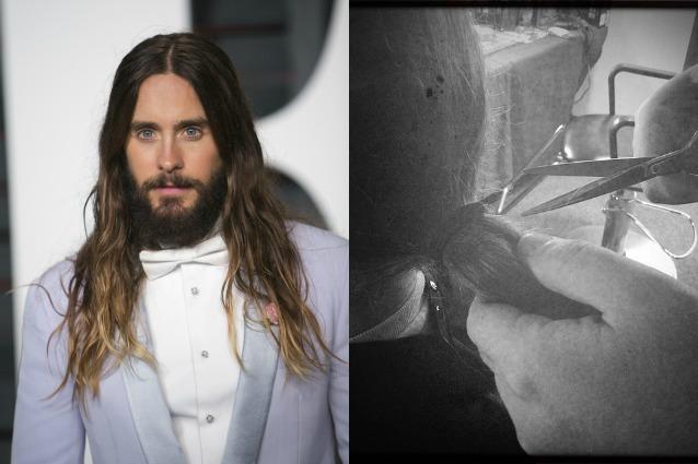 Cantante uomo con barba e capelli lunghi