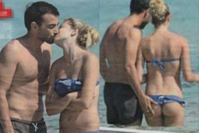 Costanza Caracciolo e Primo Reggiani hot, in spiaggia tra baci e palpatine