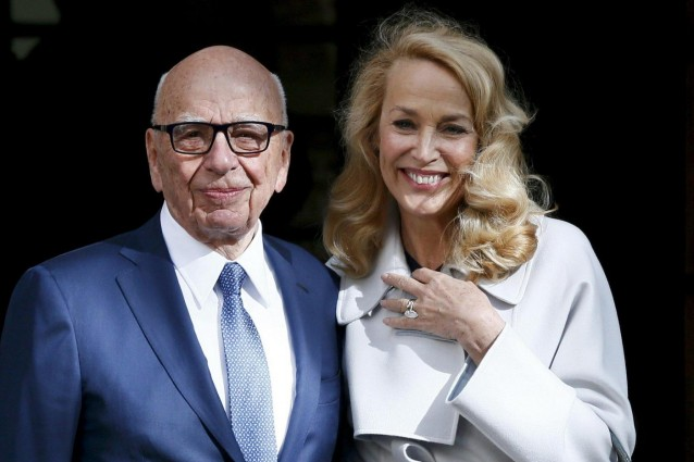 Rupert Murdoch sposa Jerry Hall, l'ex moglie di Mick Jagger