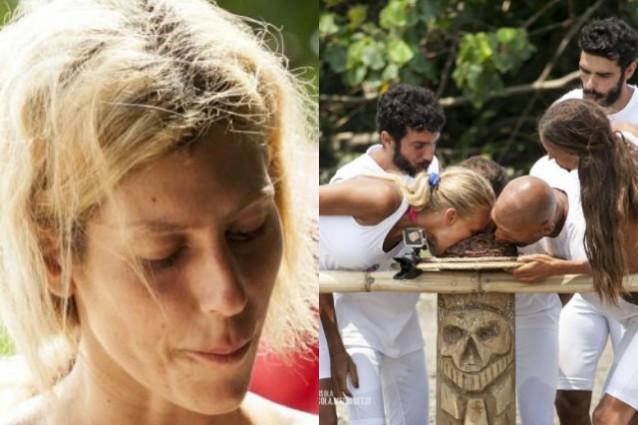 Paola Caruso perde la sfida, resta a digiuno e si allontana dal gruppo