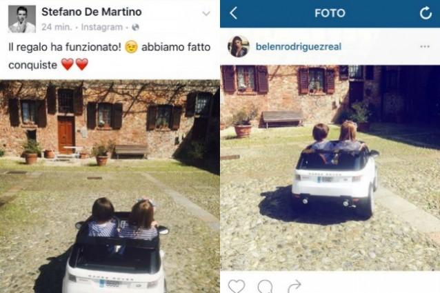 Belén Rodriguez e Stefano De Martino si ritrovano per il compleanno di Santiago