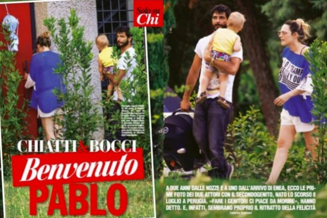 Marco Bocci e Laura Chiatti alla prima uscita con il piccolo Pablo