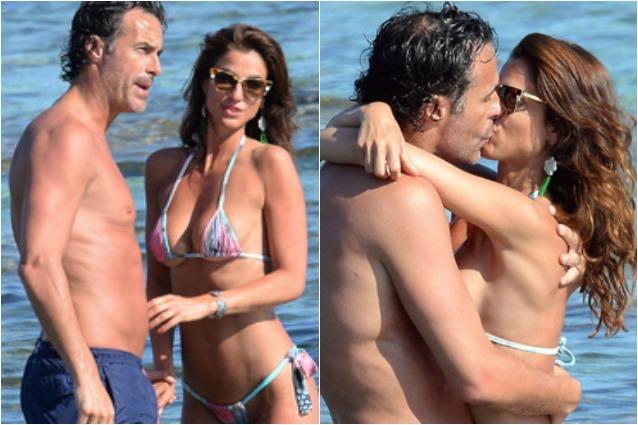Fabio Galante tra le acque di Ibiza conFrancesca Falomo