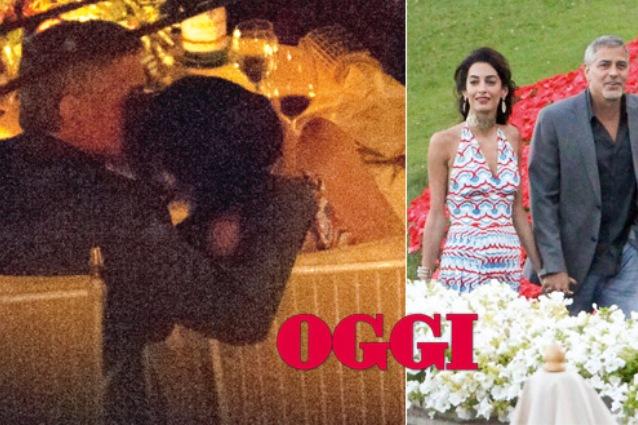 Baci nella notte tra George Clooney e Amal, le foto scacciano i gossip sull'omosessualità