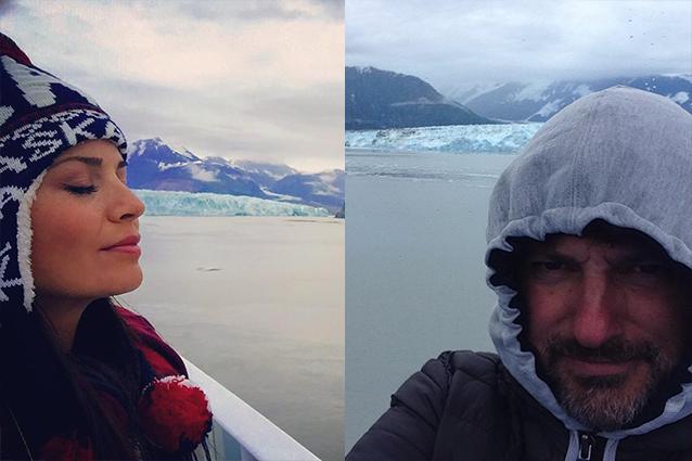 Leonardo Pieraccioni e Laura Torrisi, vacanze insieme in Alaska