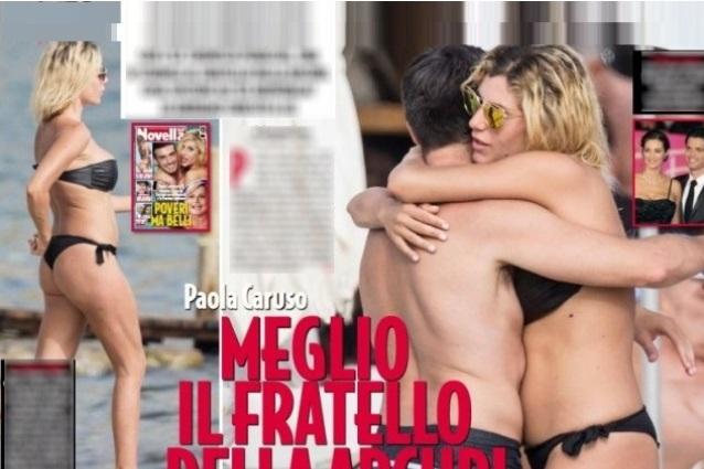 """Paola Caruso beccata con Sergio, fratello di Manuela Arcuri: """"Ho tanti pretendenti"""""""