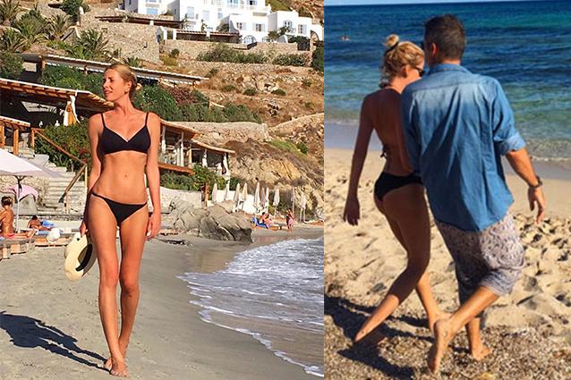 Alessia Marcuzzi in vacanza a Mykonos con il marito Paolo Calabresi Marconi