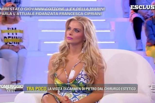 """Arrestato Cottone, la fidanzata Francesca Cipriani piange in tv: """"Sono stravolta"""""""
