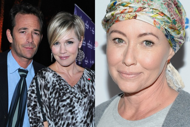 "Luke Perry e Jennie Garth a Shannen Doherty, malata di cancro: ""Combatti come Brenda"""